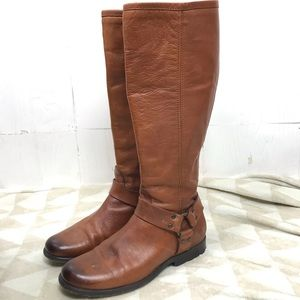 Frye Phillip Harness Tall Boots 8
